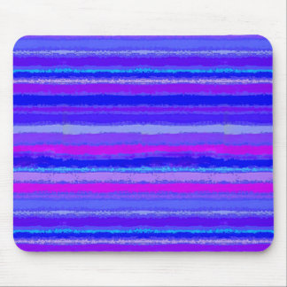 Ragged Rainbow Stripes Purples, Pink and Blue Mouse Mat