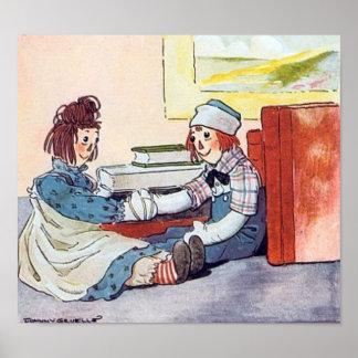 Raggedy Ann & Andy Meet - Print