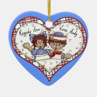 Raggedy Ann Loves Andy Personalized Ornament