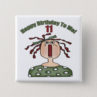 Raggedy Annie 11th Birthday Gifts 15 Cm Square Badge