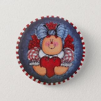 Raggedy Annie Button Pin