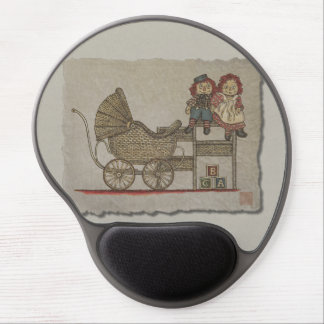 Raggedy Doll Baby Buggy Gel Mouse Mats