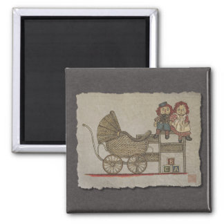 Raggedy Doll Baby Buggy Refrigerator Magnets