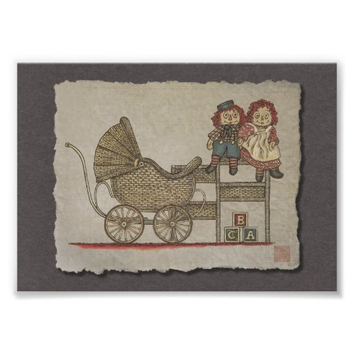 Raggedy Doll & Baby Buggy Photograph