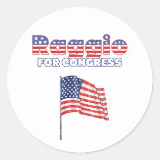 Raggio for Congress Patriotic American Flag Round Sticker