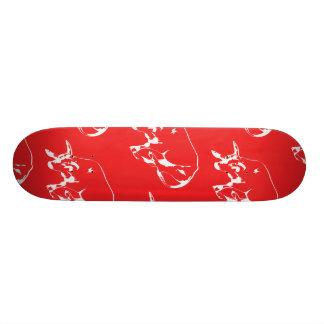 Raging Bull White Red 18.1 Cm Old School Skateboard Deck