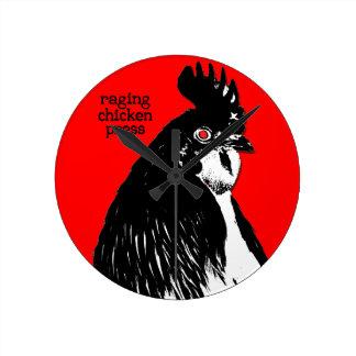 Raging Chicken Press Clock