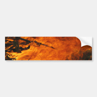 Raging Fire Car Bumper Sticker