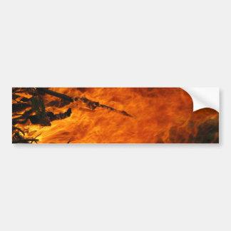 Raging Fire Bumper Sticker