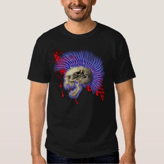 Raging Mohawk Skull and Flag T-shirts