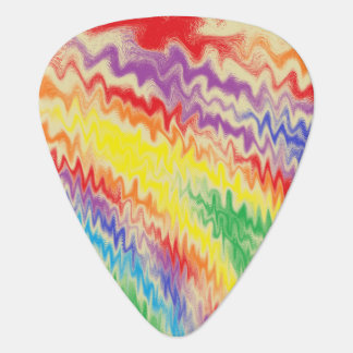 Raging Rainbow Fire Lines Guitar Pick