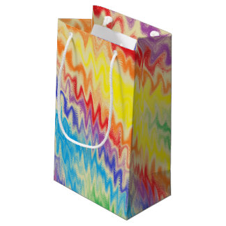 Raging Rainbow Fire Lines Small Gift Bag