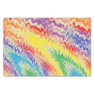 Raging Rainbow Fire Lines Tissue Paper
