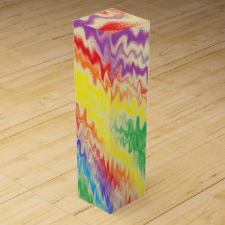 Raging Rainbow Fire Lines Wine Bottle Box