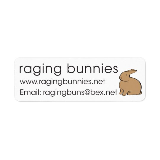 RAGING STICKERS RETURN ADDRESS LABEL