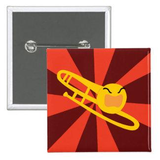 Raging Trombone 15 Cm Square Badge