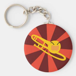 Raging Trombone Basic Round Button Key Ring