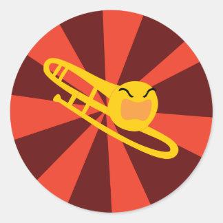 Raging Trombone Classic Round Sticker