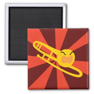 Raging Trombone Square Magnet