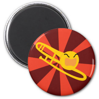 Raging Trombone 6 Cm Round Magnet