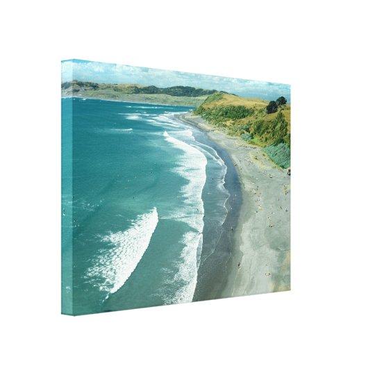 Raglan beach, New Zealand by Bruce Stanfield Canvas