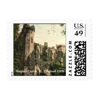 Raglan Castle, III., England 1905 Stamps