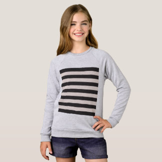 Raglan girls t-shirt with Stripes