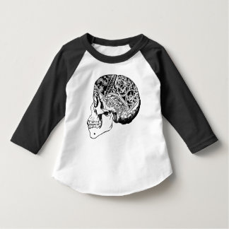 Raglan Skull 3/4 sleeve shirt