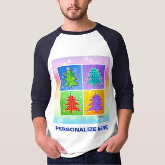 Raglan tees - Pop Art Christmas Trees