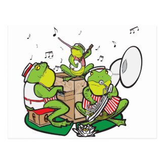 RAGTIME FROGS POSTCARD