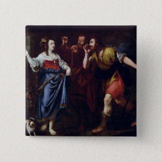 Rahab and the Emissaries of Joshua 15 Cm Square Badge