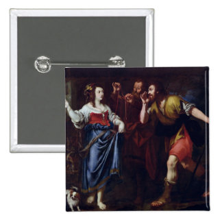 Rahab and the Emissaries of Joshua 15 Cm Square Badge