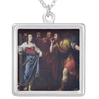 Rahab and the Emissaries of Joshua Square Pendant Necklace
