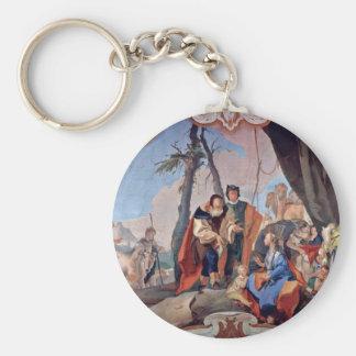 Rahel Hides The Idols By Tiepolo Giovanni Battista Keychain