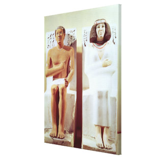 Rahotep and his Wife, Nofret Canvas Print