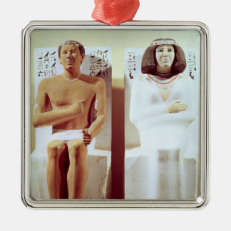 Rahotep and his Wife, Nofret Christmas Ornament