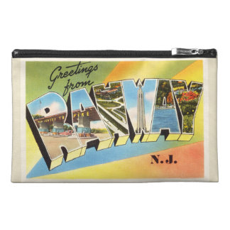 Rahway New Jersey NJ Old Vintage Travel Postcard- Travel Accessory Bags