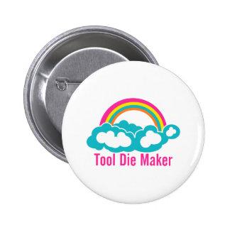 Raibow Cloud Tool Die Maker 6 Cm Round Badge