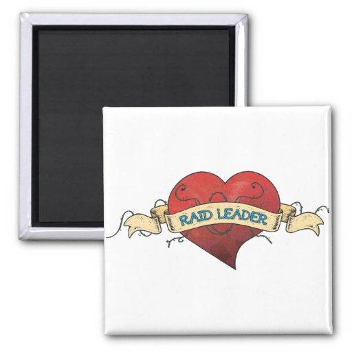 RAID LEADER Tattoo - Heart Fridge Magnet