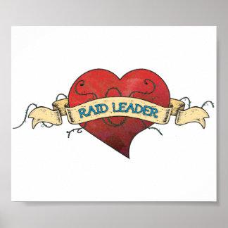 RAID LEADER Tattoo - Heart Print