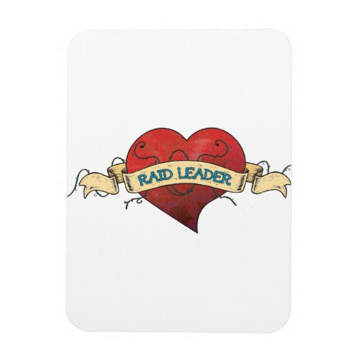 RAID LEADER Tattoo - Heart Vinyl Magnet