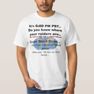 Raidermap, It's 6:00 PM PST.. Do you know where... T-Shirt