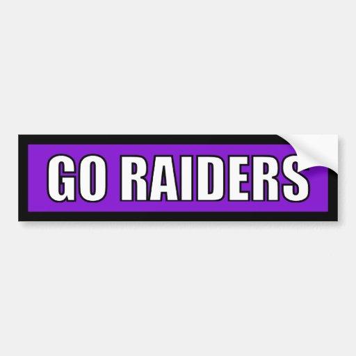 Raiders - Black Purple White Bumper Sticker