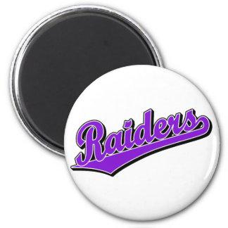 Raiders in Purple 6 Cm Round Magnet