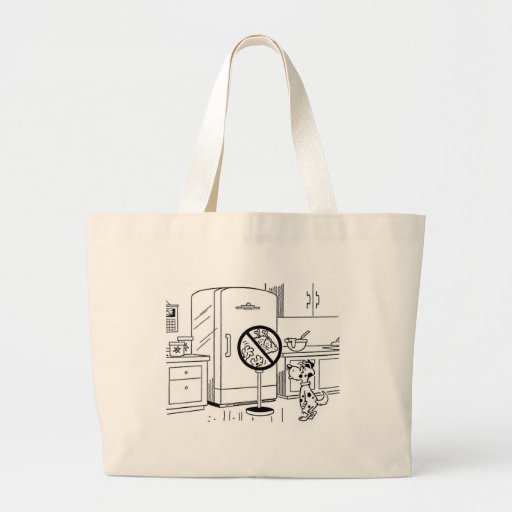 Raiding Refrig Cartoon Tote Bag