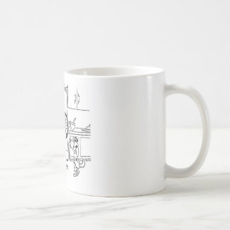 Raiding Refrig Cartoon Basic White Mug