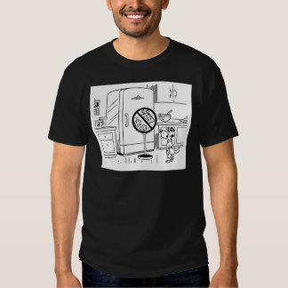 Raiding Refrig Cartoon T-Shirt