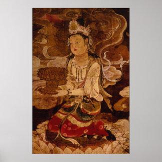 Raigo of Amida and His Host (detail) Poster