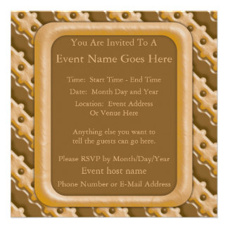 Rail Fence - Chocolate Peanut Butter Custom Invites