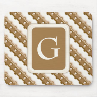 Rail Fence - Milk Chocolate and White Chocolate Mouse Pad